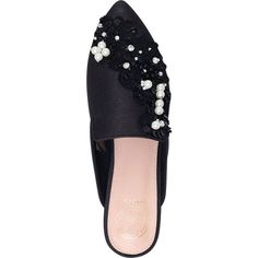 KG KURT GEIGER Okka backless embellished slippers ($150) ❤ liked on Polyvore featuring shoes and slippers