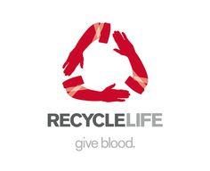 GiveBlood Donate sangue il ciclo della vita recycle life