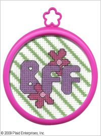 Bucilla ® My 1st Stitch™ - Counted Cross Stitch Kits - Mini - BFF. Ideal for beginners. Included are easy to learn instructions with how-to steps showing you how its done. #crafts #plaid crafts #knitting