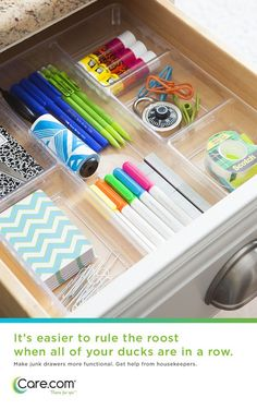 Clear Drawer Organizers Function Cleanly And Efficiently For All Of Your Desk Stuff