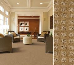 """HGTV HOME Flooring by Shaw carpet in """"Stylish Block"""" color Peanut Brittle"""