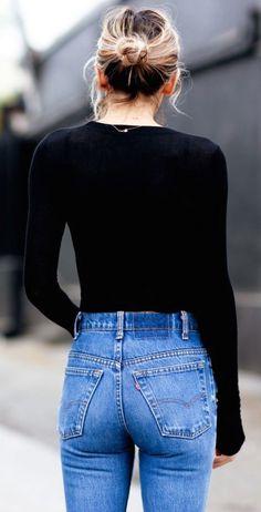 #street #style casual : denim @wachabuy