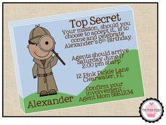 Spy Birthday | Ashton's birthday | Pinterest