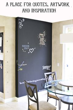 Inspiration Quote Chalkboard Wall