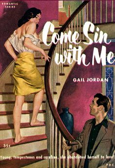 "Pulp Fiction novel cover art ""Come Sin with Me"""