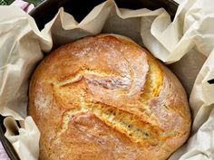 We've updated this classic technique for no-knead bread to make it tastier and easier! Bread Appetizers, Appetizer Recipes, Snack Recipes, Wine Recipes, Bread Recipes, Gluten Free Artisan Bread, Dutch Oven Bread, Cooking Bread, No Knead Bread