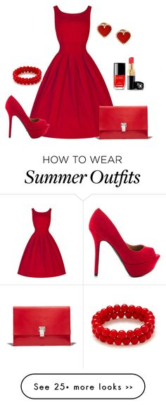 """""""Hot Red Wintage Outfits"""" by jenny-oakley on Polyvore"""