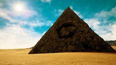 4K Mysterious Alien Pyramid in Desert 3D Animation - Stock Footage | by boscorelli