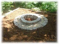 Backyard firepit...because we have about a thousand of these exact pavers around....