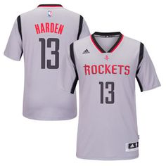 e2913e5128c Houston Rockets 13 James Harden 2015-2016 New Season Gray T-shirt Jersey -