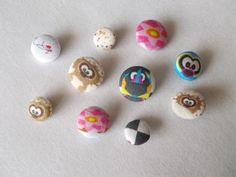 fabric buttons   Eddie and friends © myrah   http://www.stoffn.de/