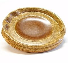 Spoon Rest in Warm Brown with a Brown Circle by JimAndGina on Etsy