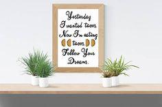 Follow Your Dreams/ cross stitch pattern PDF instant download/