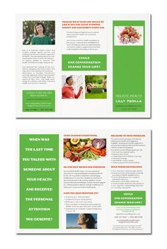 Holistic Health brochure by Ka Man Lee, via Behance See more design, go to www.kamanlee.com