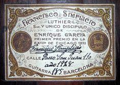 Classical Guitars - 1928 Francisco Simplicio SP/CSAR - Guitar Salon International