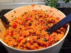 Kisir-Turkish Bulgur Salad (recipe with picture) 250 g Bulgur (Köftelik), from . - Kisir-Turkish Bulgur Salad (recipe with picture) 250 g Bulgur (Köftelik), from the Turkish superma - Easy Soup Recipes, Vegetarian Recipes, Healthy Recipes, Couscous Recipes, Salad Recipes, Clean Eating Recipes, Cooking Recipes, Chef Recipes, Turkish Recipes