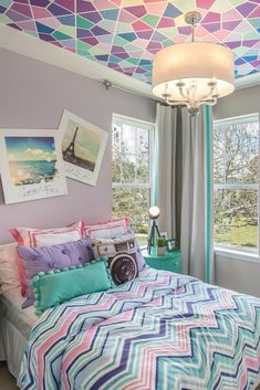 Cute Bedroom Ideas, Room Ideas Bedroom, Cute Room Decor, Bedroom Decor, Bed Room, Bedroom Wall Designs, Room Design Bedroom, Purple Bedroom Design, Girls Room Design