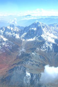 View the Andes from your flight to Peru, South America | The Planet D: Adventure Travel Blog