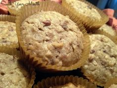 Chunky Monkey Muffins - easy muffins made with cake mix, bananas, pecans and coconut!