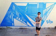 grafite com fita.
