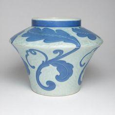 Art Deco Gustavsberg sgraffito vase made by Josef Ekberg in 1923. Just bought it on Etsy.