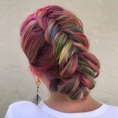 Hair by Manhattan Manhattan, Neon Hair, Cool Hairstyles, Gorgeous Hairstyles, Dyed Hair, Dreadlocks, My Style, Hair Styles, Rear View