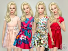 Designer Dresses Collection P10 by Lillka at TSR via Sims 4 Updates