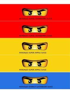 Ninjago party- water bottle print out