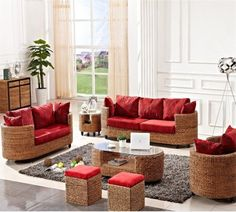 Natural And Traditional Indoor Wicker Furniture For Interior Decor ...