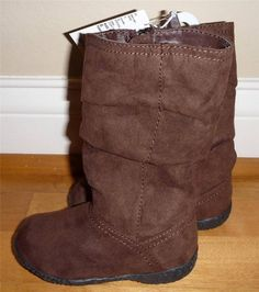 NWT Toddler Girls the CHILDREN'S PLACE Brown Slouch Boots Size 6 7 8 9 10 Zips #Boots