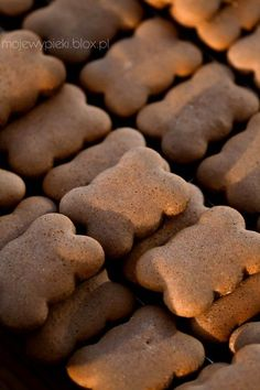 These are delicious Polish christmas cookies, recipe in English: To 7 ounces liquid (or melted) honey add a teaspoon pumpkin spice, 3.5 ounces castor sugar, a tablespoon cacao, an egg, then 14 ounces flour with three teaspoons baking powder. Knead, pin out and cut out cookies then bake 10-15 minutes by 190°C (375°F)