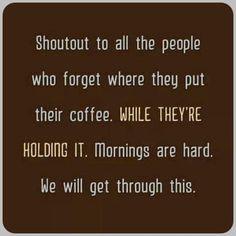 Coffee Klatch, Shout Out, Hold On, Naruto Sad