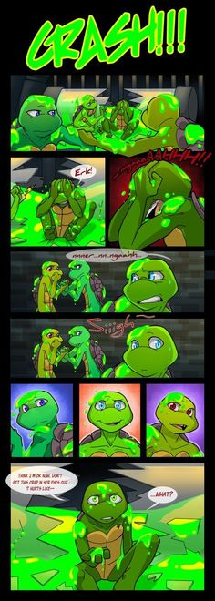 So that's why Raph's eyes are emerald green. I just love the color of his eyes, I wonder what color his eyes used to be.