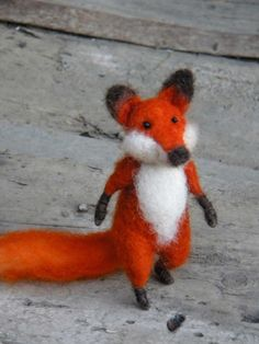 Red Foxy LIMITED SPECIAL EDITION Needle felted by feltingdreams, $48.00