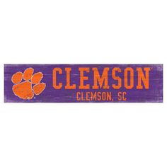 Fan Creations NCAA Team Name Sign - C0846-CLEMSON