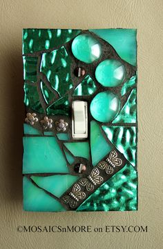 Turquoise Treasure - Single Mosaic Light Switch Cover Wall Plate