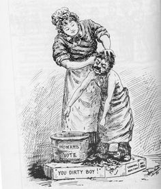 Purification suffrage cartoon | NZHistory.