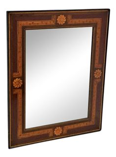 Antique mahogany marquetry inlaid mirror, of the period/modernist, Spain.