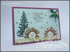 Stampin' Sacha | Stampin' Up! | Annual Catalogue 2017-2018 | Lovely as a Tree | Layering Love | | Autumn/Winter Catalogue 2017 | Painted Harvest | Painted Autumn DSP | Hedgehog Card | Love