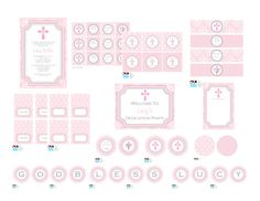 Banner And Favor Tags For Mary S Baptism Party Decorations Baby Dedication