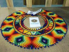 Okama  Collar que representa el sonido del viento y la sanacion... #embera #chami #indigenas #expoartesanias #artesanodijital… Tribal Jewelry, Boho Jewelry, Beaded Jewelry, Beaded Necklaces, American Indian Jewelry, Southwest Jewelry, Beading Projects, Multi Strand Necklace, Bead Weaving