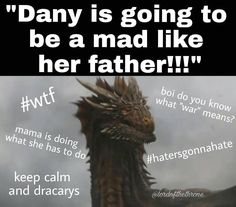 "Polubienia: 2,526, komentarze: 55 – Game of Thrones (@gameofthroness._) na Instagramie: ""Keep calm and dracarys creds: @lordofthethrone ❤️"""