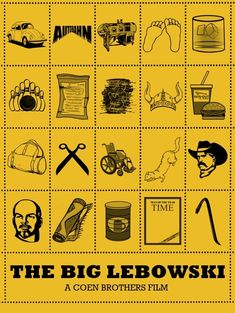 BROTHERTEDD.COM - Iconic Film Posters: Telling stories in simplicity... The Big Lebowski, Big Lebowski Meme, O Grande Lebowski, Iconic Movie Posters, Movie Poster Art, Iconic Movies, Film Posters, Steve Buscemi, Posters Vintage