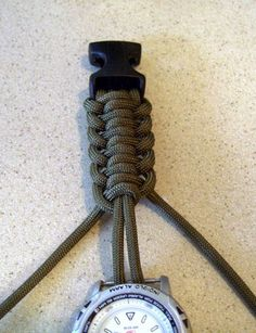Cool paracord watch band! #DIY #paracord