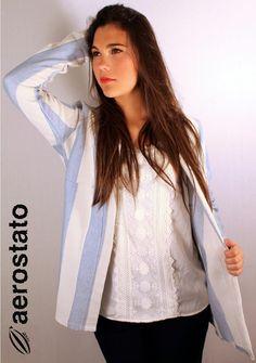 ¡¡Buenos días!! ¿Te animas a salir de compras? Recibiendo novedades de la semana con este estilo primavera...🌸🌸 #jacket #shirt #look #glamour #primavera #aerostatomoda