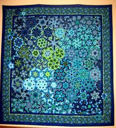 Another gorgeous kaleidoscope quilt, this one of the type called One Block Wonder -