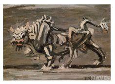 흰 소  이중섭        1954년경 / 유화 / 합판에 유채 / 30 x 41.7 cm / 홍익대학교박물관 소장