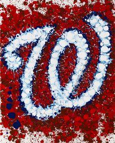 Washington Nationals Abstract Painting. #Baseball #WashingtonNationals #TheYardsDC #AllTheRightSurprises