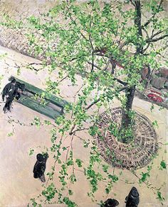 Title: Boulevard seen from Above, 1880 Artist: Gustave Caillebotte Medium: Hand-Painted Art Reproduction