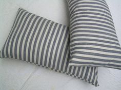 vintage french ticking pillows